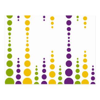 Mardi Gras Bubble Dots Postcard