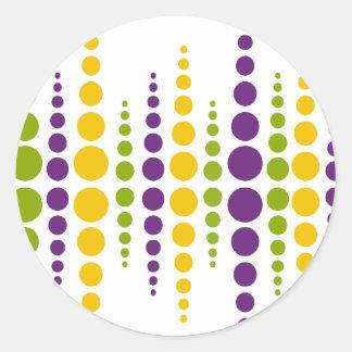 Mardi Gras Bubble Dots Stickers
