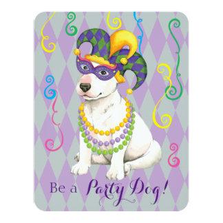 Mardi Gras Bull Terrier Card