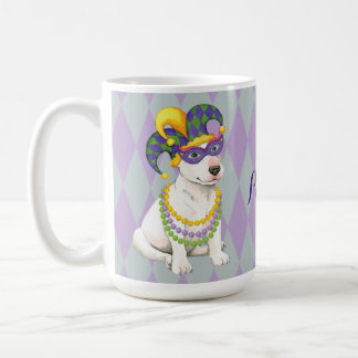 Mardi Gras Bull Terrier Coffee Mug