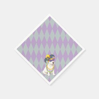 Mardi Gras Bull Terrier Napkin