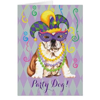 Mardi Gras Bulldog Card