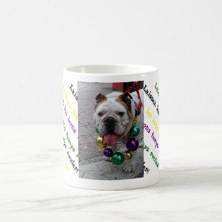 Mardi Gras Bulldog Coffee Mug