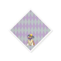 Mardi Gras Bulldog Paper Napkin