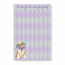 Mardi Gras Bulldog Post-it Notes