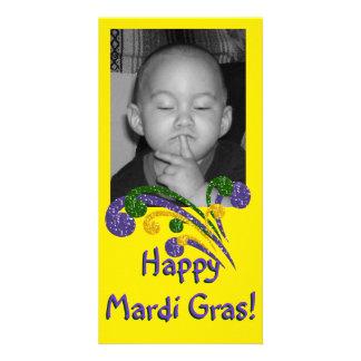 Mardi Gras Burst Photo Card
