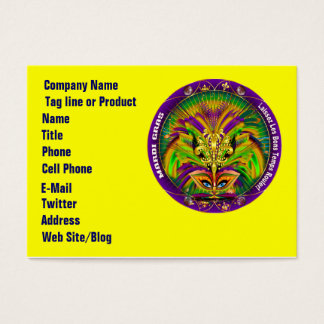 Mardi Gras Business Horz. Please View Hints Business Card