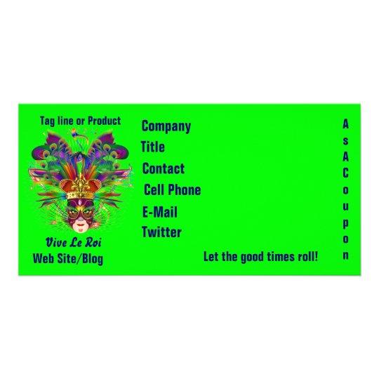 Mardi Gras Business Theme Hz Please View Notes Card