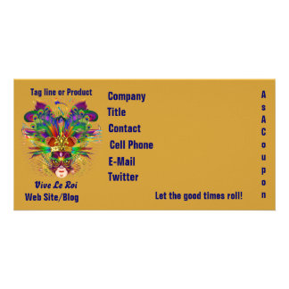 Mardi Gras Business Theme Hz Please View Notes Personalized Photo Card