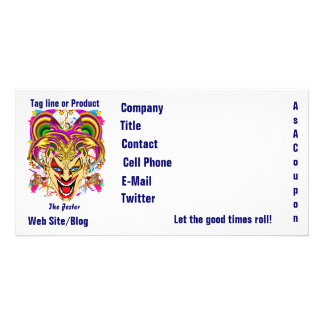 Mardi Gras Business Theme Hz Please View Notes Photo Card Template