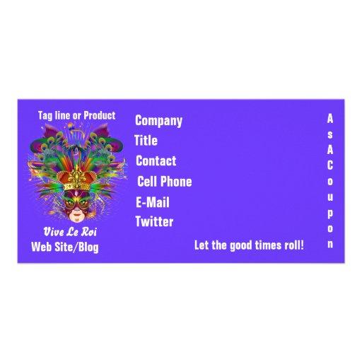 Mardi Gras Business Theme Hz Please View Notes Custom Photo Card