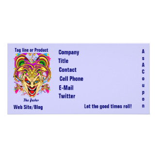 Mardi Gras Business Theme Hz Please View Notes Photo Card