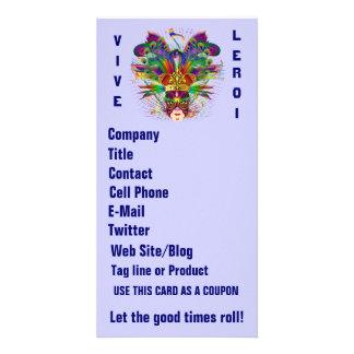 Mardi Gras Business Theme Vert Please View Notes Custom Photo Card