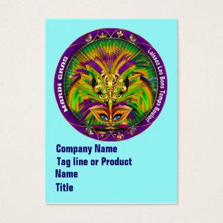 Mardi Gras Business Vert. Please View Hints Business Card