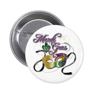 Mardi Gras Pinback Button