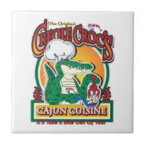 Mardi Gras Cajun Crocodile Ceramic Tile
