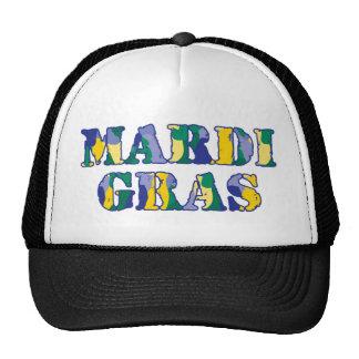 Mardi Gras Camo Mesh Hat