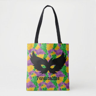 Mardi Gras Camouflage Mask Tote Bag