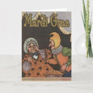 Mardi Gras Card card