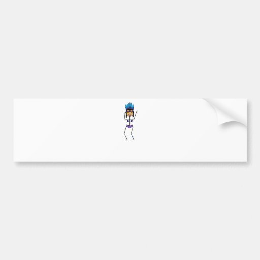 mardi gras carnaval dancer bumper sticker