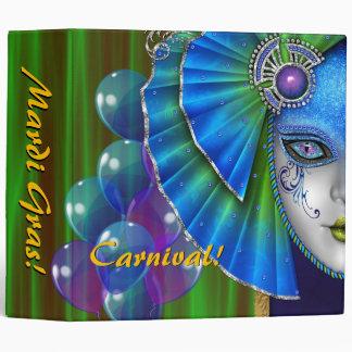 Mardi Gras Carnival Blue Balloons Album Binder