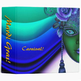 Mardi Gras Carnival Blue Photo Album Binder