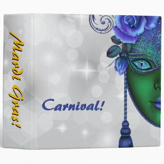 Mardi Gras Carnival Bokeh Photo Album Binder