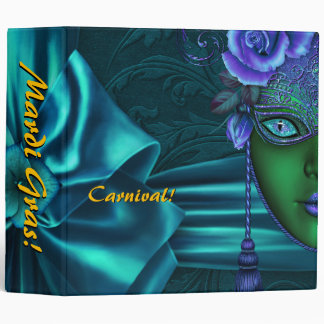 Mardi Gras Carnival Bow Photo Album Binder