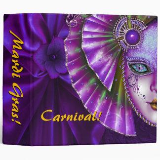Mardi Gras Carnival Deep Purple Photo Album Binder