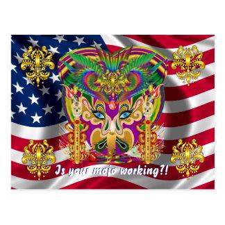 Mardi Gras Carnival Event  Please View Hints Postcard