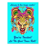 "Mardi Gras Carnival Event  Please View Notes 6.5"" X 8.75"" Invitation Card"