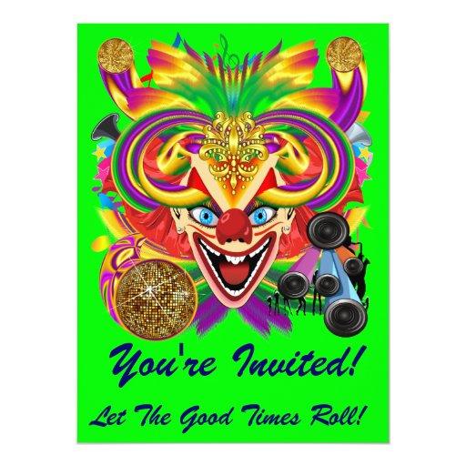 Mardi Gras Carnival Event  Please View Notes 6.5x8.75 Paper Invitation Card