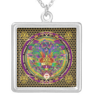 Mardi Gras Carnival Event  Please View Notes Silver Plated Necklace