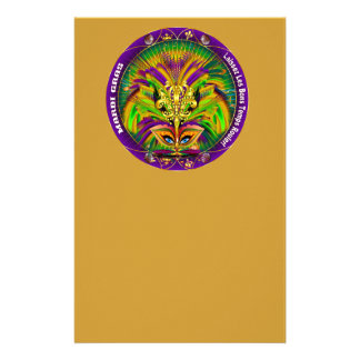 Mardi Gras Carnival Event  Please View Notes Stationery Design