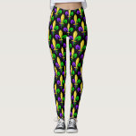 "Mardi Gras Carnival Fleur De Lis Leggings<br><div class=""desc"">The fleur de lys is the most instantly recognized symbol of New Orleans,  and Louisiana and the mardi gras festival and carnival.</div>"
