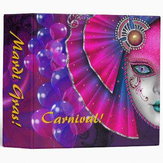Mardi Gras Carnival Hot Pink Balloons Album Binder