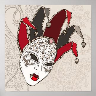 Mardi Gras Carnival Mask Poster