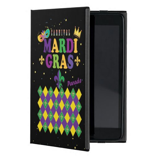Mardi Gras Carnival Party Fleur de Lis Rhombus Case For iPad Mini