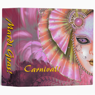 Mardi Gras Carnival Pink Photo Album Binder