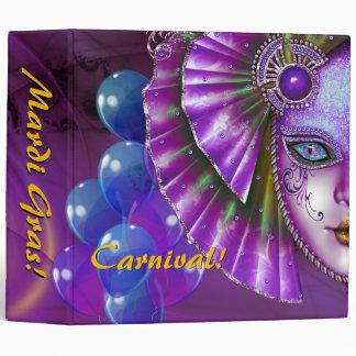 Mardi Gras Carnival Purple Balloons Album Binder