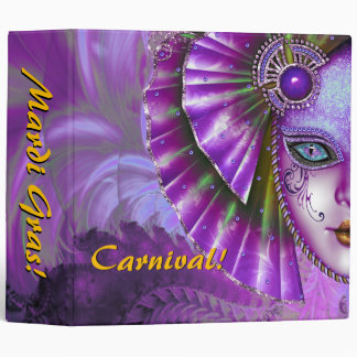 Mardi Gras Carnival Purple Photo Album Binder