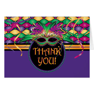 Mardi Gras, Carnival Thank You Cards