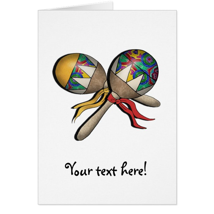 Mardi Gras, Carnival, Tropical Maracas - 01 Card