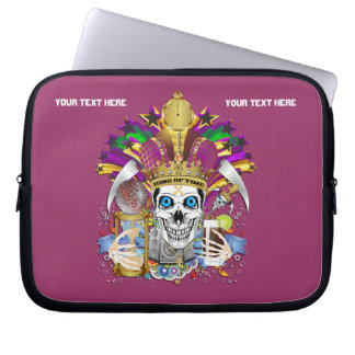 Mardi Gras Carrying Case for ip-5 and ipad Mini Laptop Computer Sleeve