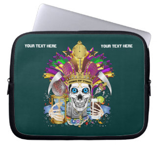 Mardi Gras Carrying Case for ip-5 and ipad Mini Laptop Sleeve