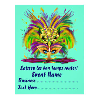 """Mardi Gras Carvinal 8.5"""" x 11""""  Please View Notes Personalized Flyer"""