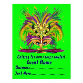 "Mardi Gras Carvinal 8.5"" x 11""  Please View Notes Flyer Design"