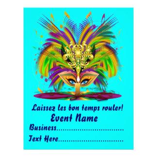"Mardi Gras Carvinal 8.5"" x 11""  Please View Notes Flyer"