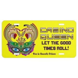 Mardi Gras Casino Queen Read About Design Below License Plate