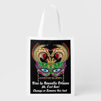 Mardi Gras Casino Queen Read About Design Below Grocery Bag